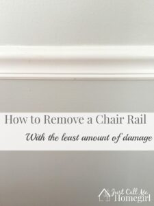 How to remove a chair rail