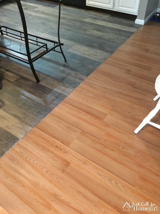 Lifeproof luxury vinyl plank flooring just call me homegirl for Flooring transition from kitchen to family room