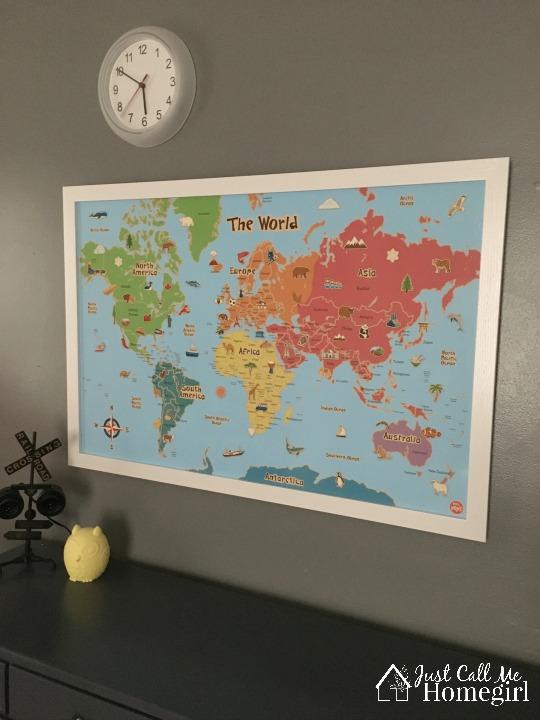 kids wall maps