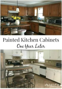 Painted Kitchen Cabinets – One Year Later