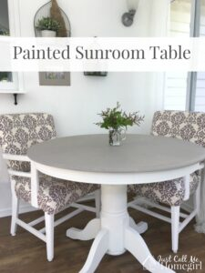 Painted Sunroom Table