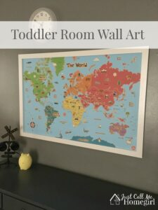 Easy Toddler Room Wall Maps
