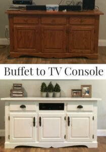 Buffet to TV Console