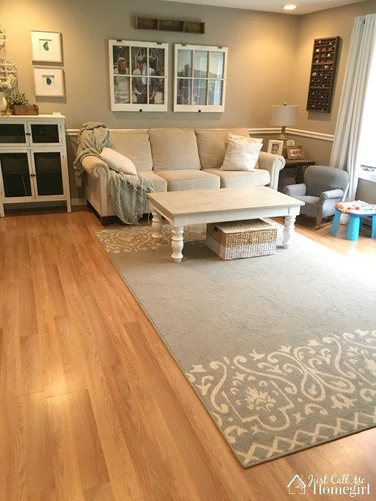 Laminate Flooring In Living Room And Hall