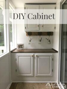 DIY Built-in Cabinet