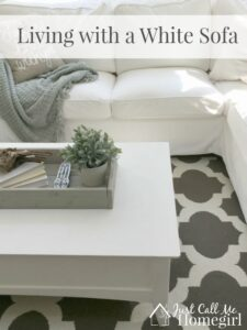 Living with a White Sofa