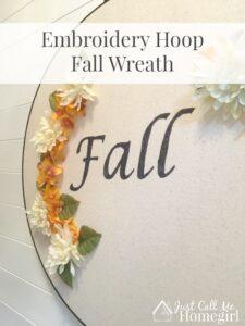 Embroidery Hoop Fall Wreath