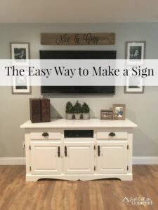 The Easy Way to Stencil a Sign