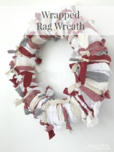 Wrapped Rag Wreath