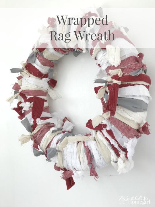 wrapped rag wreath