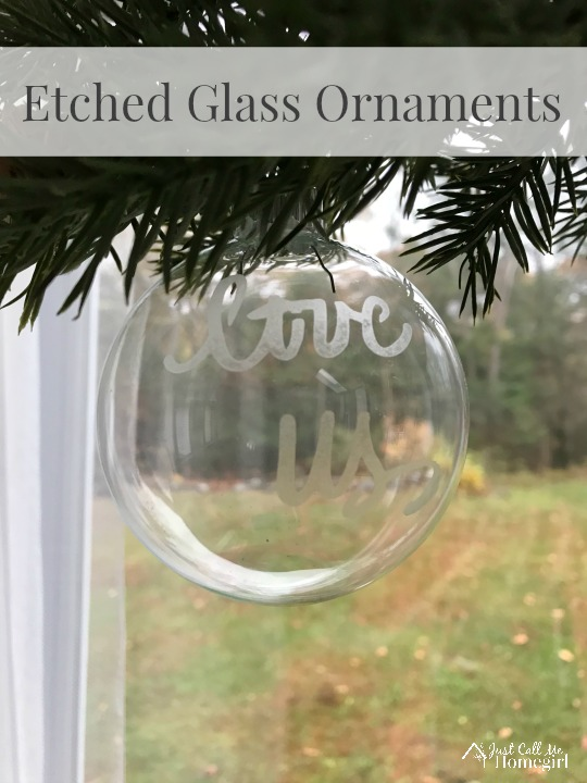 Etched Glass Ornaments Just Call Me