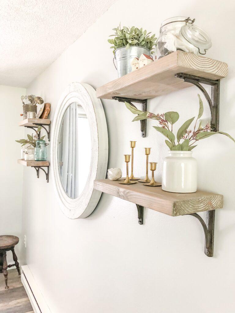Raised Ranch Dining Room Shelves