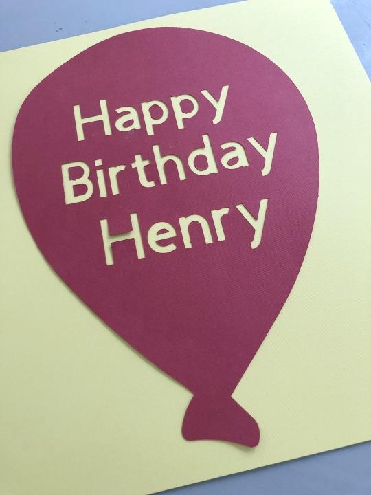 Happy Birthday Henry Paper