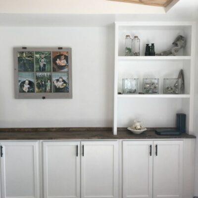 Upper Cabinets Made into Built-ins