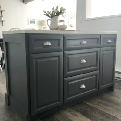 Turning Base Cabinets into a Kitchen Island