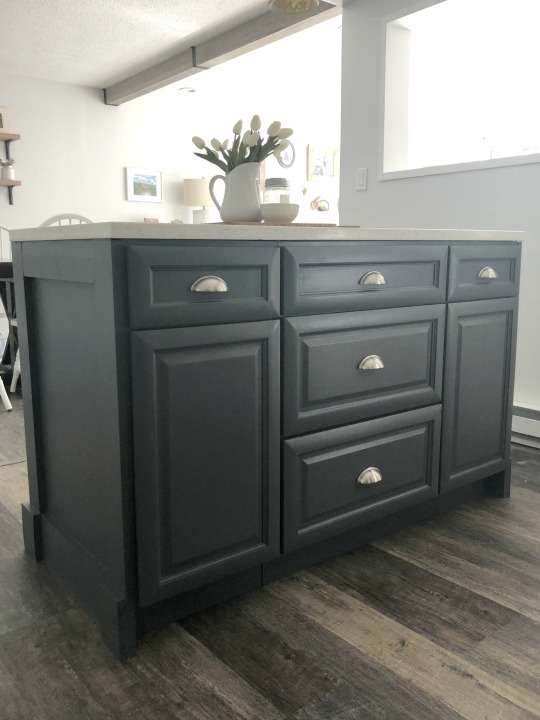 Island made from base cabinets