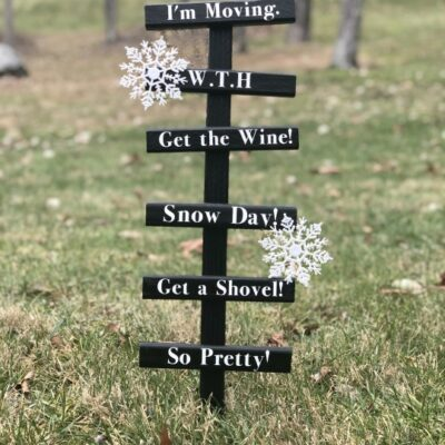 Funny Snow Measurement Stakes